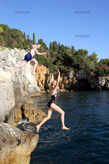 jumping from cliff