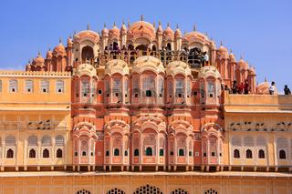 Interior of Hawa Mahal - Palace of the Winds in Jaipur, Rajasthan, India