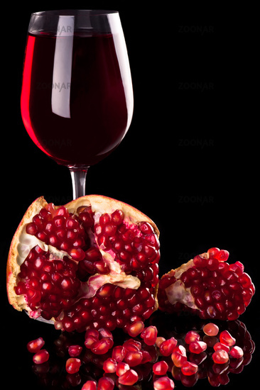 Pomegranate and red wine
