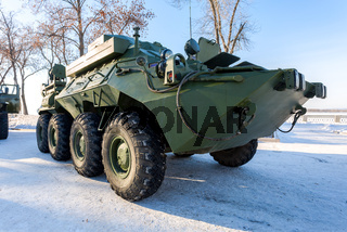 The unified command-staff vehicle R-149MA1 of russian army based on the BTR-80
