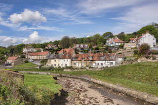 The village of Sandsend Whitby North Yorkshire
