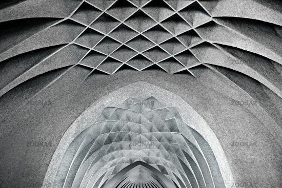 Ceiling vault of the church St. Johann Baptist, Neu-Ulm, Bavaria, Germany