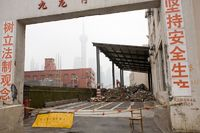 Demolition site, Pudong, Shanghai
