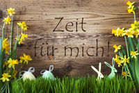 Easter Decoration, Gras, Zeit Fuer Mich Means Time For Me