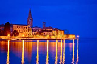 Town of Porec coast evening view