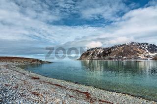 Magdalenafjord in Svalbard islands, Norway