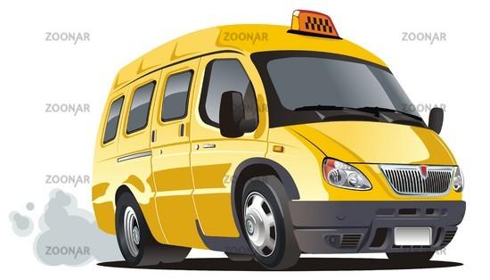 cartoon taxi bus