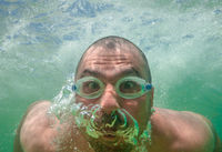 Funny Male Face Underwater Goggles