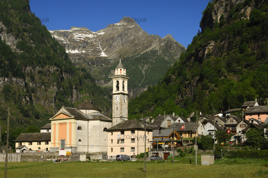 Sonogno, Valle Verzasca, Ticino, Switzerland