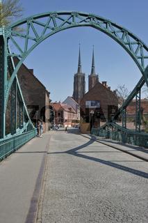 Dombrücke Breslau   Wroclaw Domebridge
