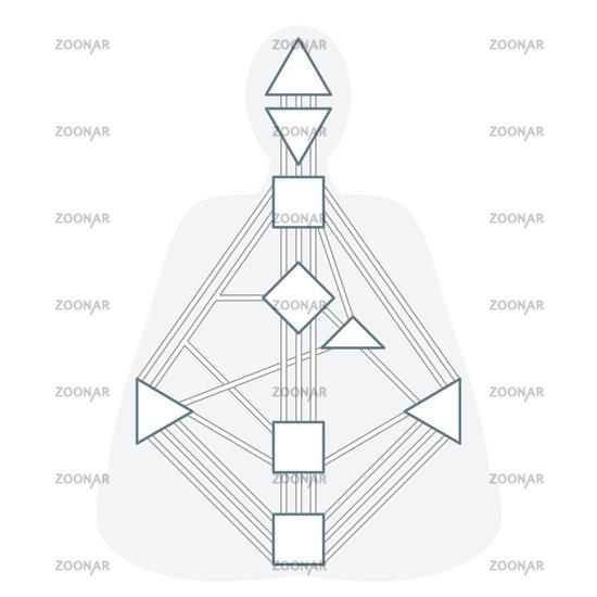 vector monochrome human design bodygraph