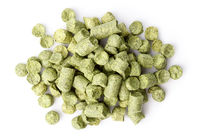 hops pellets isolated on white background