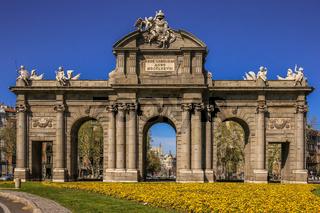 The Alcala Door (Puerta de Alcala) in Madrid, Spain