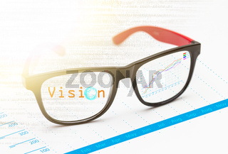 Vision concept with eyeglasses design.