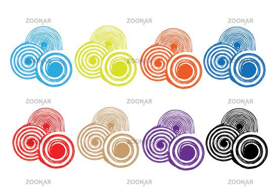 Woodcut Swirls