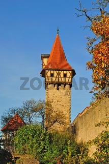 Wehrmauer der Kirchenburg Ostheim