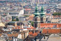 Rooftops of Budapest, University Church, Hungary