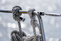 mooring lines on a sailing yacht
