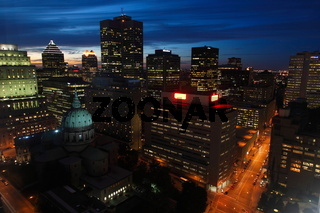 Montreal after sunset