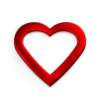 Red Heart. 3D Render Illustration