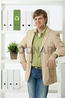 Businessman posing in office