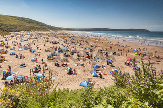 17 June 2017: Woolacombe, Devon, England, UK