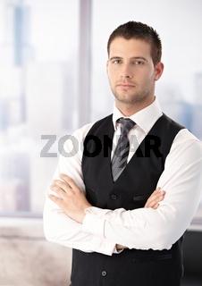 Portrait of businessman in waistcoat