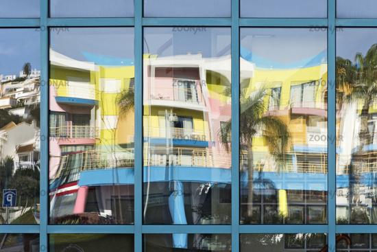 Reflection in a glass facade