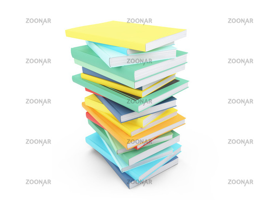 isolated books over white background