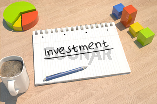 Investment text concept