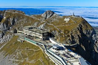 Historisches Berghotel Pilatus-Kulm, Pilatusmassiv, Alpnachstad, Schweiz