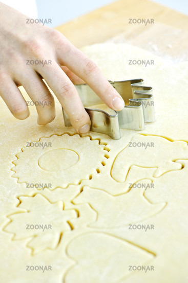 Cookie cutter and dough