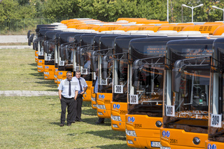 Public transportation new busses drivers