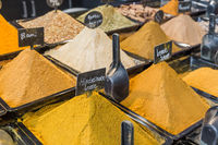 Spices on market in Rotterdam Netherlands