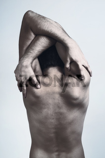 Naked back of a man