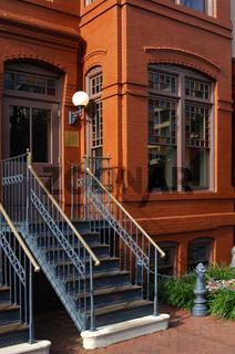 historisches Ziegelhauses in der Red Lion Row