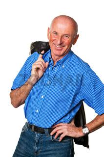Portrait eines freundlichen älteren Mannes