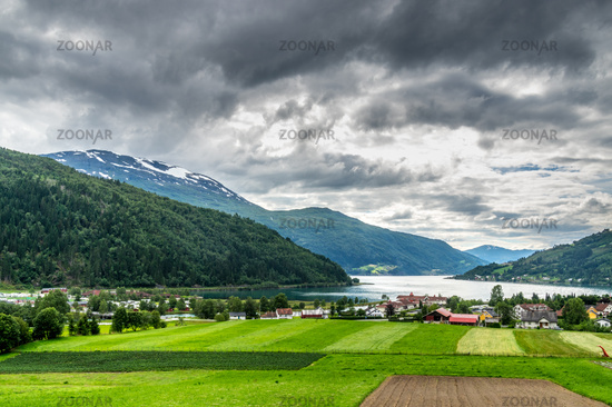 Beautiful landscape in Loen