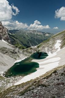 Pilato lake on the Sibillini mountains
