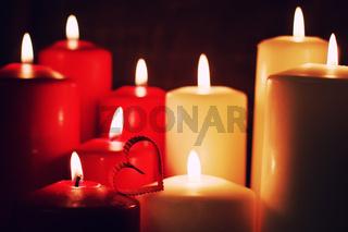 love heart shape candle