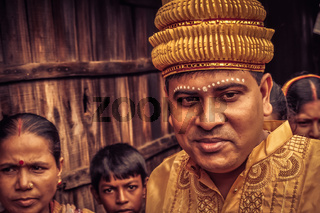 Man in yellow in Bangladesh