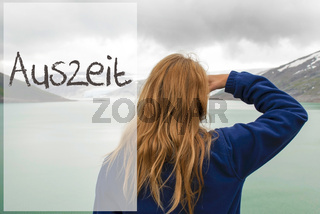 Woman In Norway, Auszeit Means Downtime