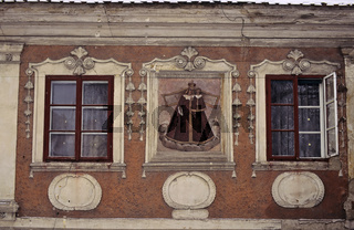 Tschechien, Cesky Krumlov, Barockhaus