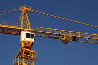 The top of a huge crane
