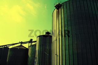 Silos für Getreide