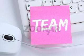 Team Teamwork zusammen arbeiten Business Konzept Arbeit Büro