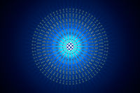 Chess matrix (metaphor). Hi-tech ornament. 3D render illustration