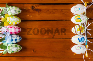 Ten colorful handmade easter eggs