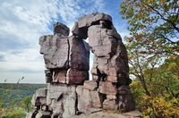 Devils Doorway at Wisconsin's Devils Lake State Park