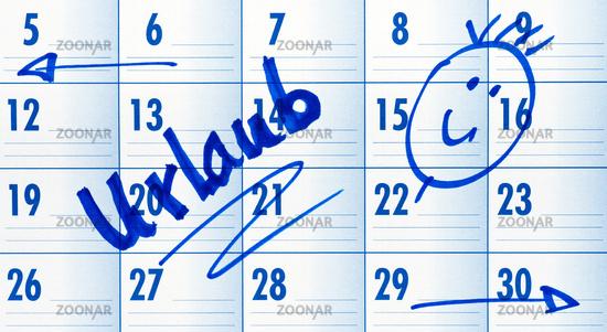 Vacation - Date Calendar